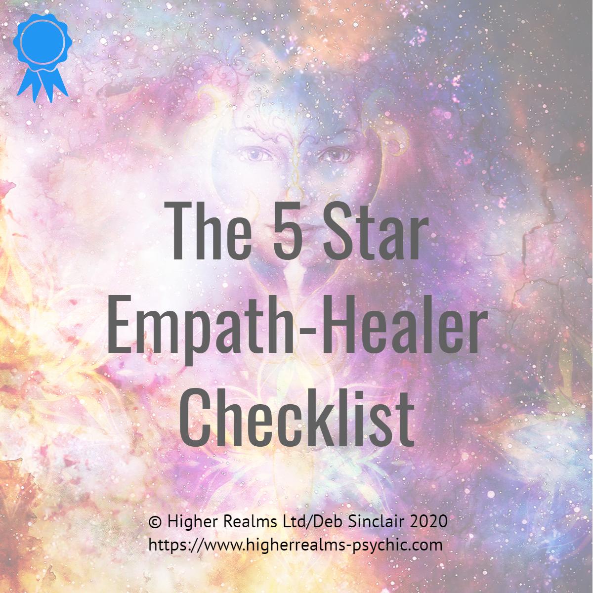 5 star healer empath checklist